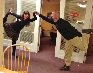 Dancer's Pose with Anne and Tim Massucco in HR